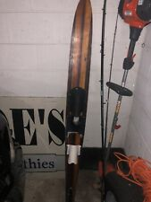 Vintage 2 Tone Wooden Water Ski 64� Competition Salom