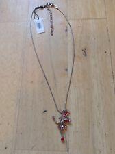 Park Lane Accessories Necklace & Red Diamanté Fairy Pendant BNWT