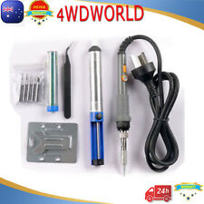 6in1 Electric Soldering Iron Stand Tweezers Kit 240V 60W Solder Stick Tool OZ