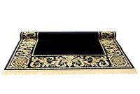 Barock Teppich Mäander Medusa Schwarz K-Seide Meander Carpet Rug exklusiv versac