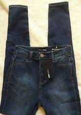 Fashion Nova Womens Blue Luxe Dark Wash High Waist Skinny Jeans size 3