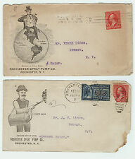 RARE 1901 Advertising Cover Envelope & Letter LOT - Rochester NY Pump Company
