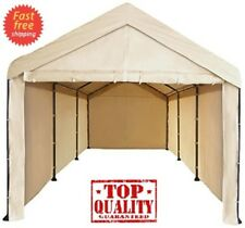 Canopy Garage Side Wall Kit Mega Domain Portable Heavy Duty Carport Car Shelter
