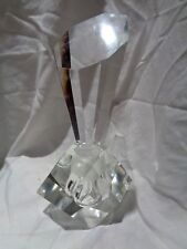 Vintage Stunning Art Deco Andrea Glass Beveled Lead Crystal Perfume Bottle