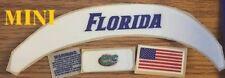 FLORIDA Gators (MINI) with Green Dot Speed  Football Helmet Decals Bumper Set