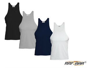 Mens Premium Quality Gym Athletic Summer Vests Plain Multi Packs Lot
