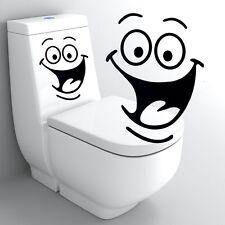 Waterproof Cartoon Smile Face Bathroom Toilet Stickers Vinyl Home Decor Decal