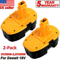 For DEWALT DC9096-2 18V XRP Battery 2-Pack DC9096-2S DC9098 DC9099 DW9095 DW9096