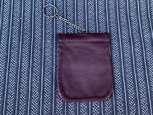 Porsche 911 original burgundy key fob leather nice original 1970/80's pouch