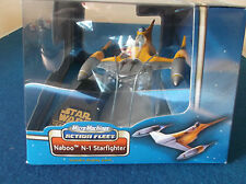 Star Wars collectable figures. Naboo N-1 Starfighter. In original box.
