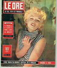 MARILYN MONROE Cover Magazine 1955 Italy Vintage Weekly Issue Rare Sexy Le Ore