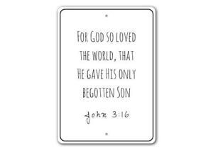 Bible Verse Sign, Good News Sign, Christians Scripture Wall Decor Metal Sign