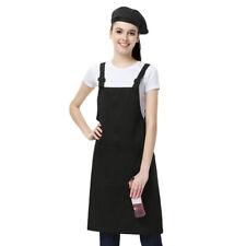 Cotton Cloth Bib Apron Barista Baker Bartender Bbq Chef Work Uniform Cooking Us