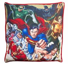 LARGE Justice League Canvas Cushion Batman Superman Flash Wonder Woman