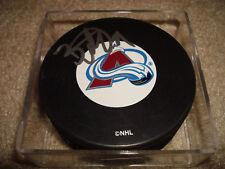 Peter Budaj Signed Autographed Hockey Puck Colorado AVS Avalanche a