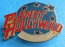 Planet Hollywood ATLANTIC CITY Classic Globe Red, White & Light Blue Lapel PIN
