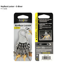 KEY RACK LOCKER with 6 S BINER MICROLOCK KEY CHAIN KEY RING SMART LOCKING CLIPS
