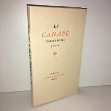 LE CANAPE COULEUR DE FEU Conte 1958 Au cercle du livre précieux 1500ex NUM CD29A