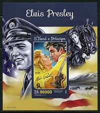 SAO TOME 2016 ELVIS PRESLEY  SOUVENIR SHEET  WITH JUDY TYLER MINT NH
