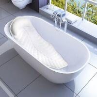 Full Body Spa Bath Pillow Mat, Non-Slip Bathtub Mattress with Suction Cups