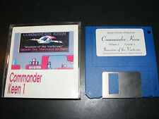 """COMMANDER KEEN 1 Invasion of the Vorticons 1 Marooned Very Rare 3.5"""" IBM PC Game"""