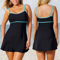 Plus Size Women Push-up Padded Bikini Swimdress Swimwear Bathing Suit Tankini