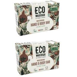 Eco Warrior 2x Moisturising Hand And Body Bar Coconut Blend Natural Vegan