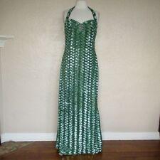 Badgley Mischka Evening Gown Dress Size 12 Women green sequin