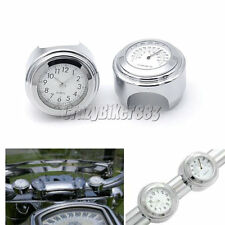 Handlebar Clock + Thermometer For Yamaha V-Star XVS 650 1100 Classic Silverado