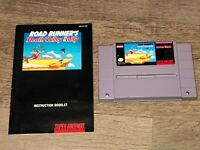 Road Runner's Death Valley Rally w/Manual & Case Super Nintendo Snes Authentic