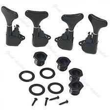 Guitar Sealed Tuners Tuning Pegs Machine Heads 2R2L For 4 String Bass Black