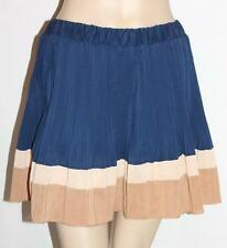 Unbranded Designer Navy Pleated Chiffon Mini Skirt Size XS BNWT #si13