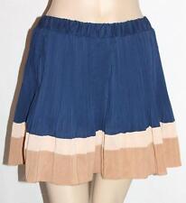 Unbranded Navy Pleated Chiffon Mini Skirt Size XS BNWT #si13