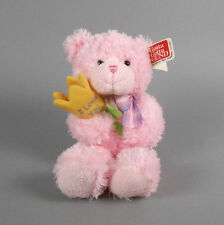 """Gund Message Bear 10"""" Pink Plush Teddy Bear with Flower New with Tags"""