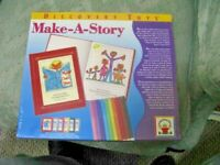 2004, MAKE-A-STORY, DISCOVERY TOYS, 6 COVER COLORS, UNOPENED