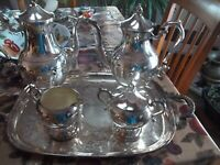Vintage FINA-Italy Silver plated coffee/tea/sugar/creamer set