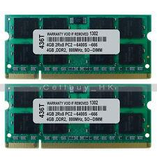 8GB 2x4GB 2Rx8 PC2-6400S PC2-6400 DDR2-800 200-PIN SO-DIMM Laptop Memory Module