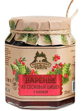 Pine cone jam with cranberries 250g