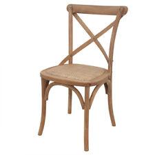 Provincial Rattan Seating Natural Cross Back Chair 49.5x54x89cmh