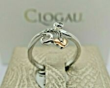 Clogau Silver & Rose Gold White Topaz Tree of Life Vine Ring Size O