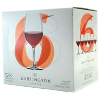 Dartington Crystal Red Wine Set of Six Glasses NEW