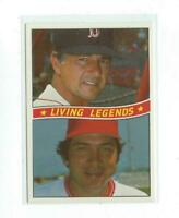 1984 Donruss B Living Legends Carl Yastrzemski  Johnny Bench MINT rare