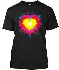 Tie Dye Heart Cute Rainbow Graphic T-shi Hanes Tagless Tee T-Shirt