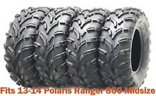 Set 4 WANDA ATV tires 25x8-12 & 25x11-12 for 13-14 Polaris Ranger 800 Midsize