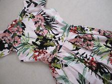 Dorothy Perkins Tropical Flower Print Dress size  UK 14