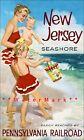 New Jersey Shore 1950 Pennsylvania Railroad Vintage Poster Print Retro Travel
