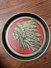 Vintage Iroquois Beer Tray Indian Head Buffalo Ny Metal