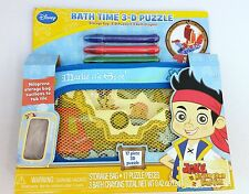 NEW Disney Jake And The Never Land Pirates Bath Time 3-D Puzzle 21 PCS Crayons