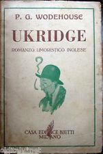 1950 P.G.Wodehouse - UKRIDGE - Romanzo umoristico inglese - Casa Editrice Bietti