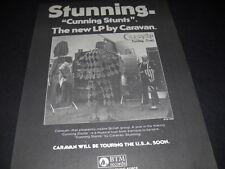 CARAVAN original rare 1975 PROMO DISPLAY AD Cunning Stunts - Touring USA Soon
